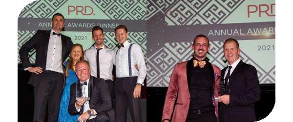 Annual Awards 2021 Top Office PRD Hunter Valley and Top Principal Mark Kentwell, PRD Newcastle Office