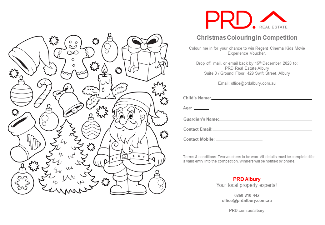Prd Albury Christmas Colouring In Competition